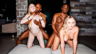 BlackedRaw – Natalia Queen And Emma Starletto – Stay awhile