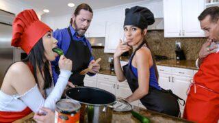 Daughterswap – Gianna Gem & Savannah Sixx – Culinary Cock Cuties