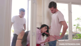 FamilyStrokes – Amber Chase – Forgetful Stepsis Lands In Double Trouble