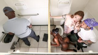 Brazzers – Aria Kai and Ebony Mystique – The Road Trip Gas Station Glory Hole